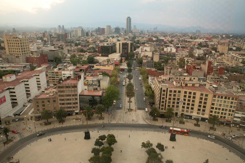 Panoramic views from el Monumento a la Revolución