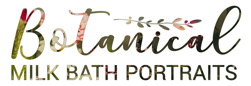 Botanical Milk Bath Photography Logo, Campbell Salgado Studio in Portland, Oregon