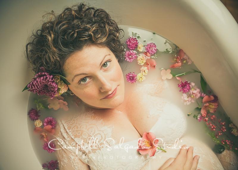 Milk Bath pregnancy photography