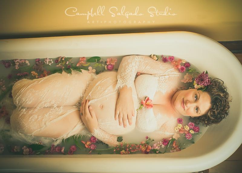 Botanical Milk Bath pregnancy photography