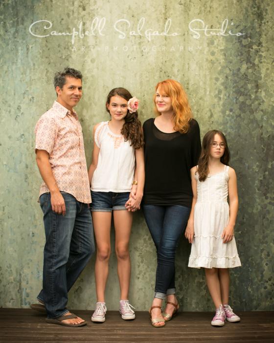 Family portrait at Campbell Salgado Studio