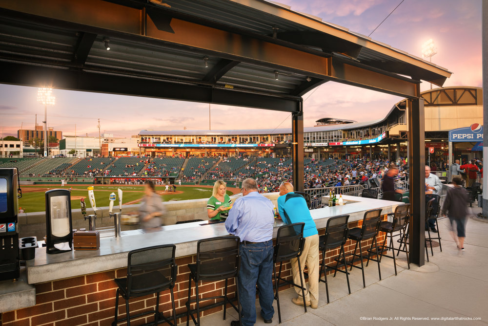 Pepsi Porch Bar Side View - Cooley Law School Stadium in Lansing, Michigan