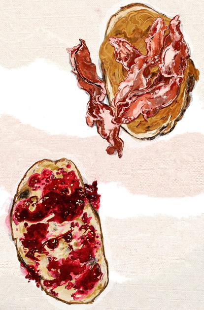 Elvis's Fool's Gold peanut butter-bacon-jelly sandwich