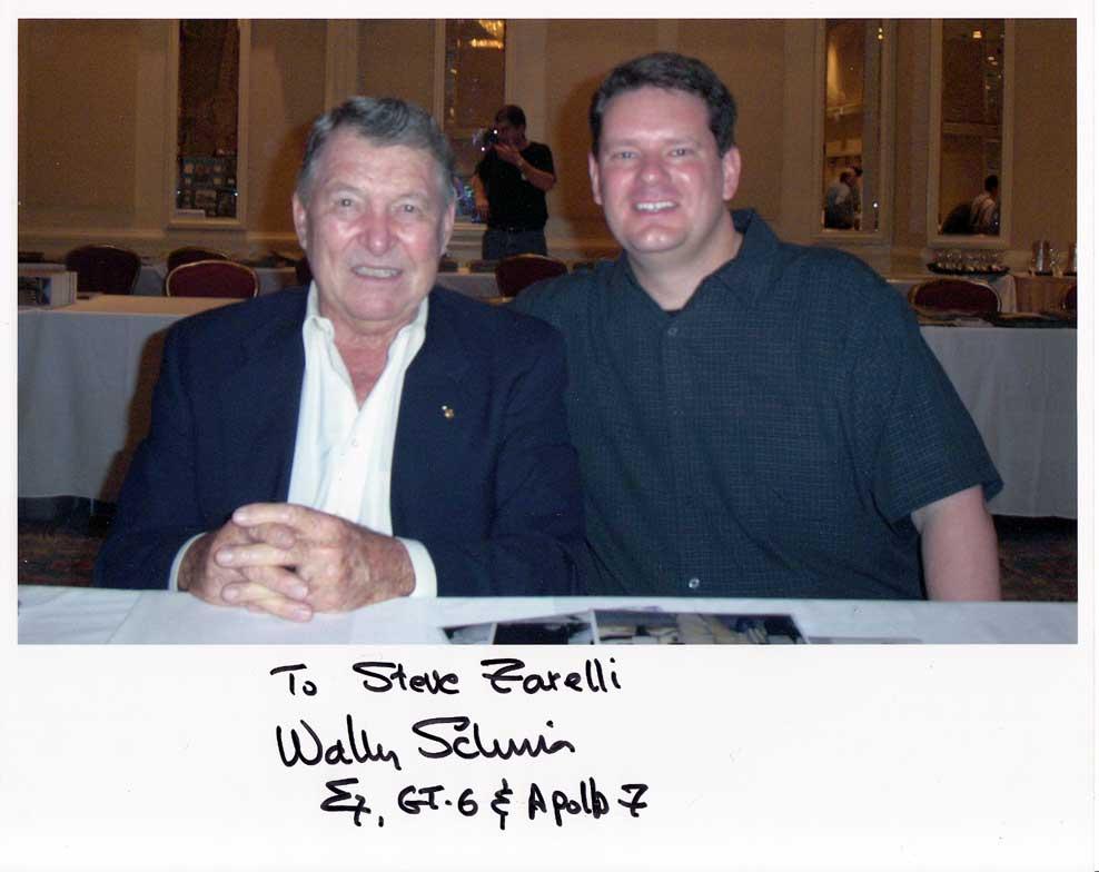 Steve Zarelli with Wally Schirra
