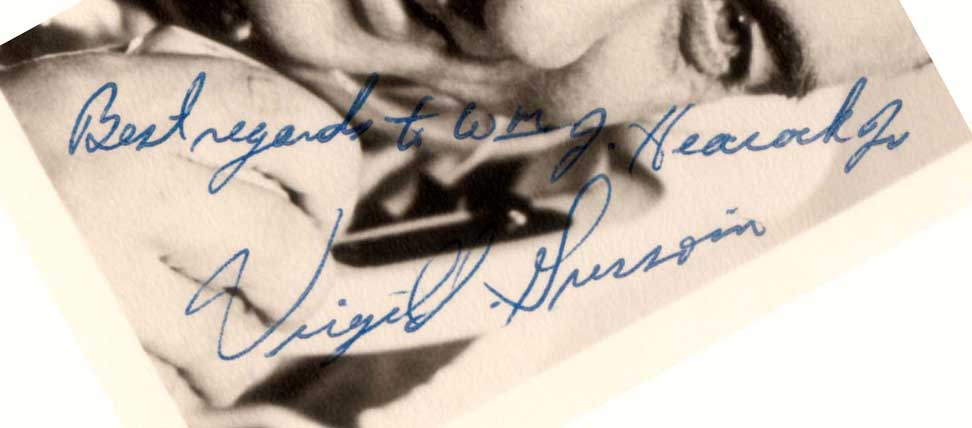 Virgil Grissom signed photo, 1961