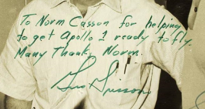 Gus Grissom personalized photo, circa late 1966