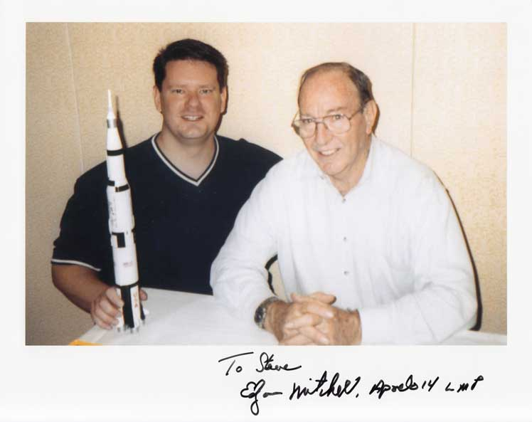 Steve Zarelli with Edgar Mitchell, 2004.