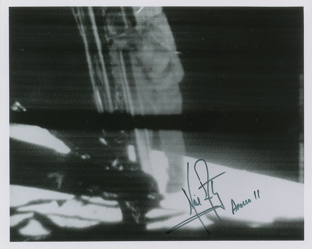 Neil Armstrong signed photo that sold for over $38,000