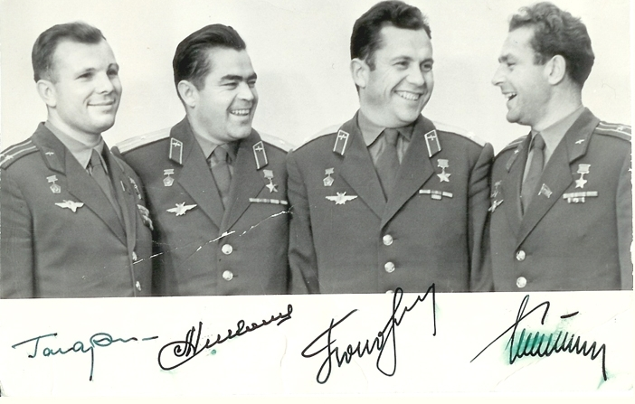 Cosmonaut multi-signed photograph, 1963