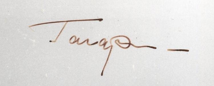 Yuri Gagarin signed postcard