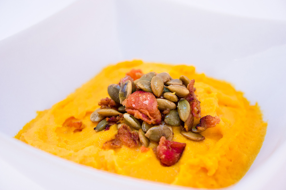 Butternut Squash with Roasted Pepitas and Bacon
