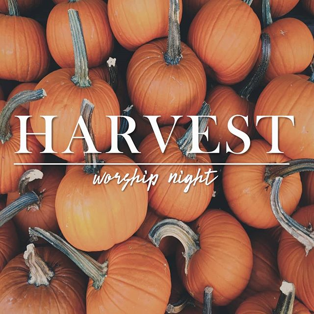 This Friday night, at 7pm. We're so excited to worship as family. Can't wait to see you there! #crossroadsfoursquare #HARVESTworshipnight