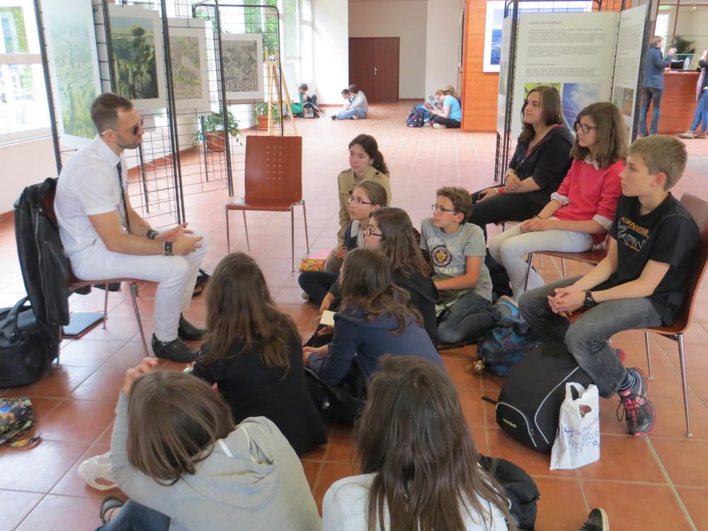 Rencontre avec le club de lecture du collège Notre-Dame/St Sigisbert, autour d'Animale (© C. Pano)