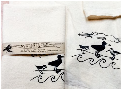 Shoreline tea towels