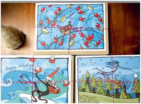 Clayoquot Eclectic festive postcards