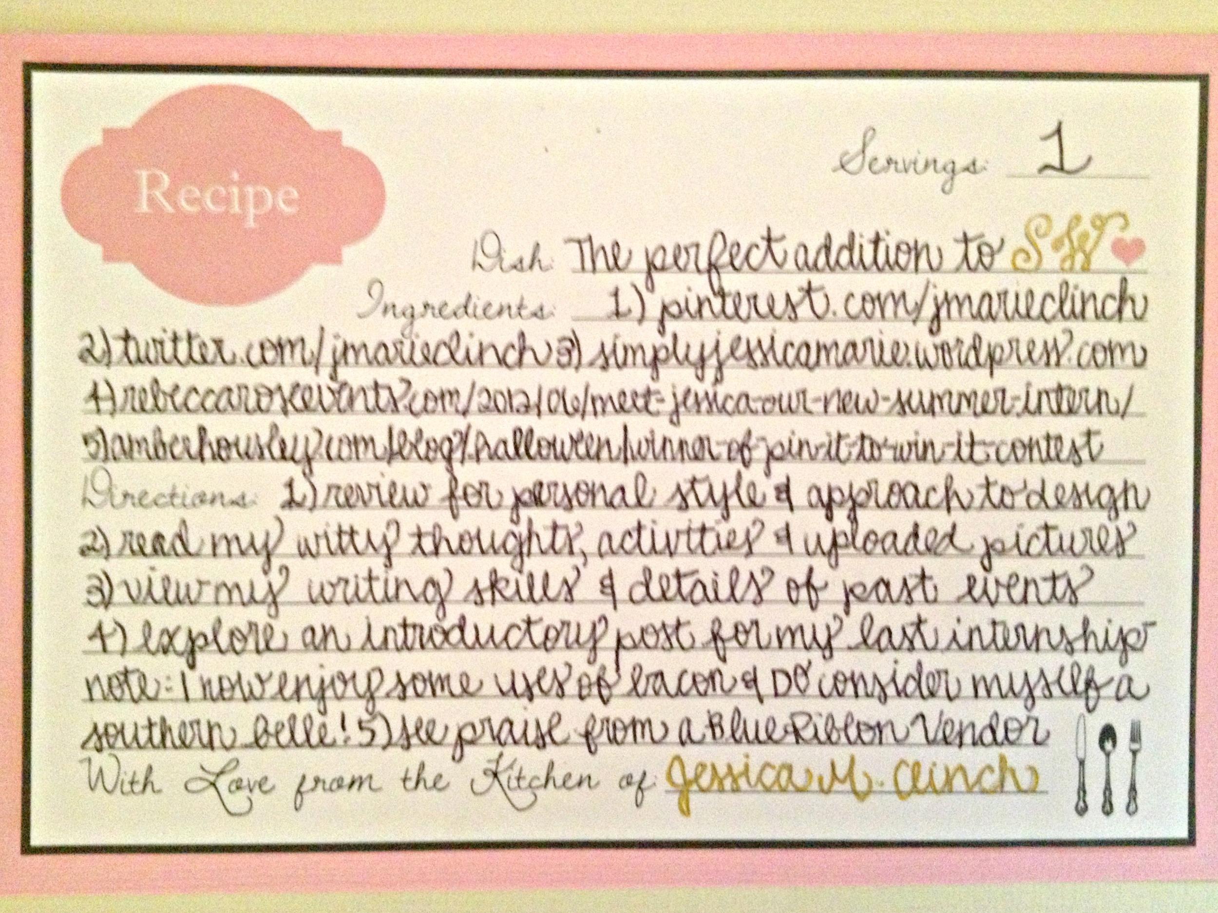 SW Recipe