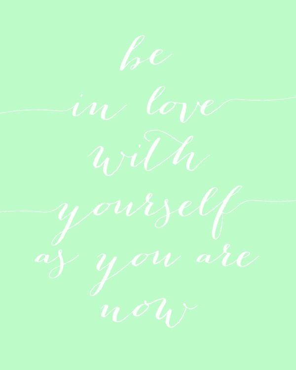 Be In Love With Yourself