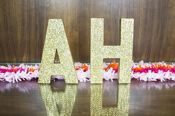 Amber Housley Inspired Gold Letters
