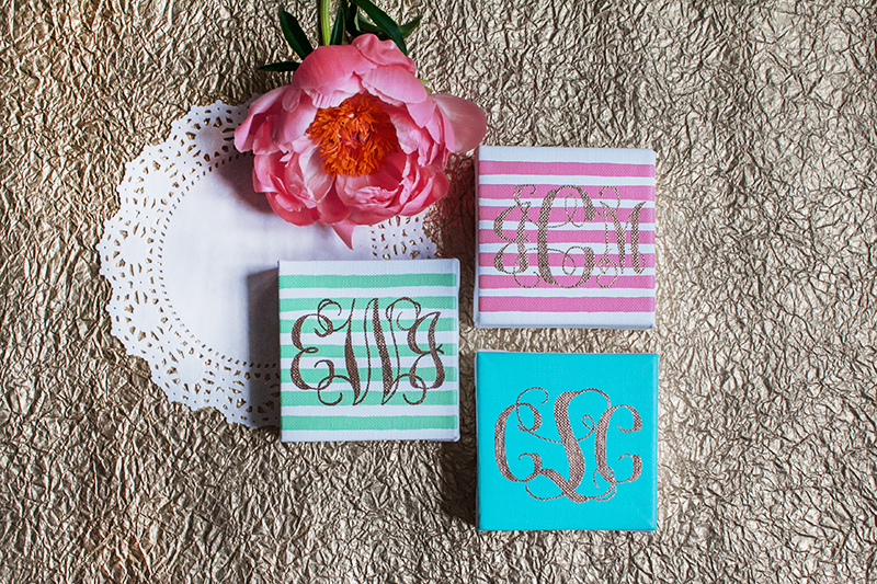 Monogrammed Canvases