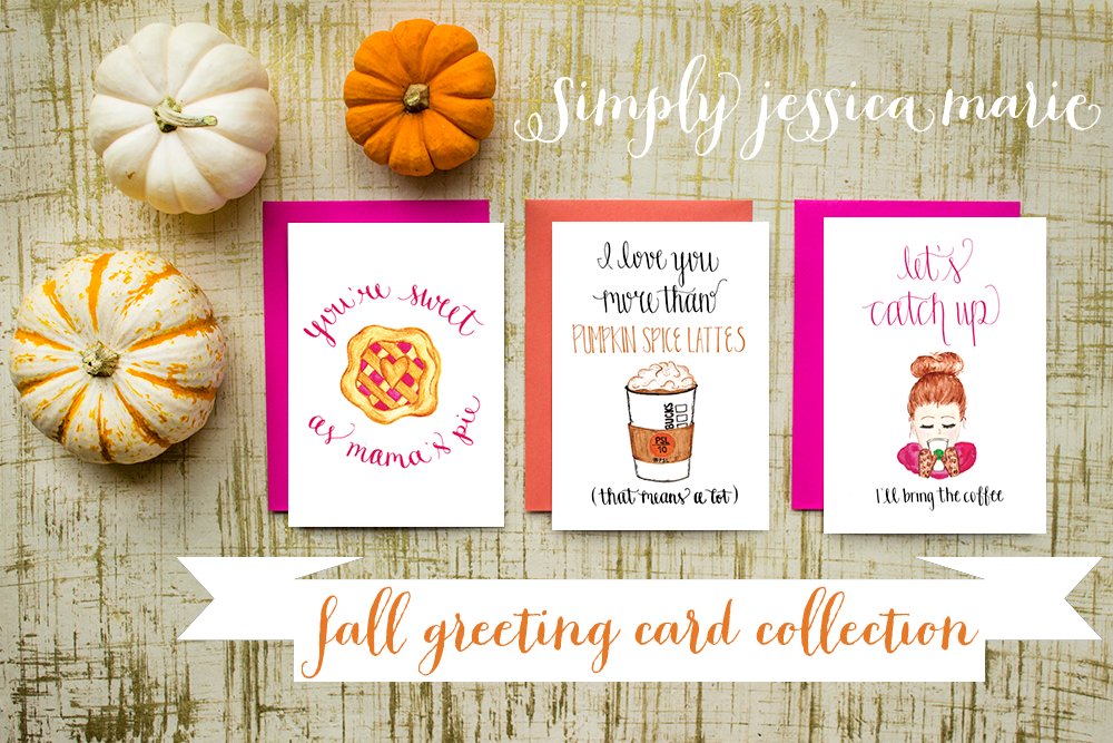 fall greeting card collection  simply jessica marie, Greeting card