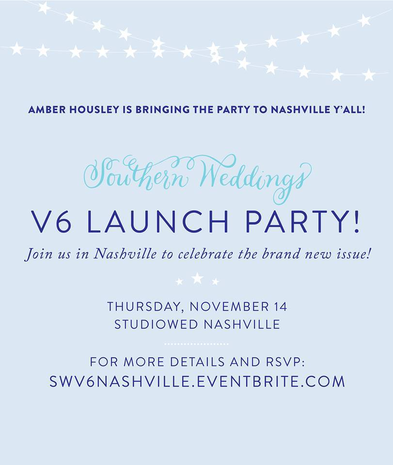 Southern Weddings V6 Satellite Launch Party in Nashville Hosted by Amber Housley Weddings
