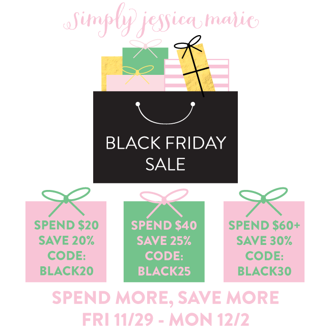 Simply Jessica Marie Black Friday Sale