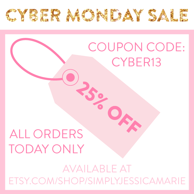 Cyber Monday Sale Simply Jessica Marie