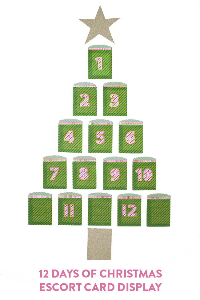 Twelve Days of Christmas Escort Card Display DIY | The Flair Exchange