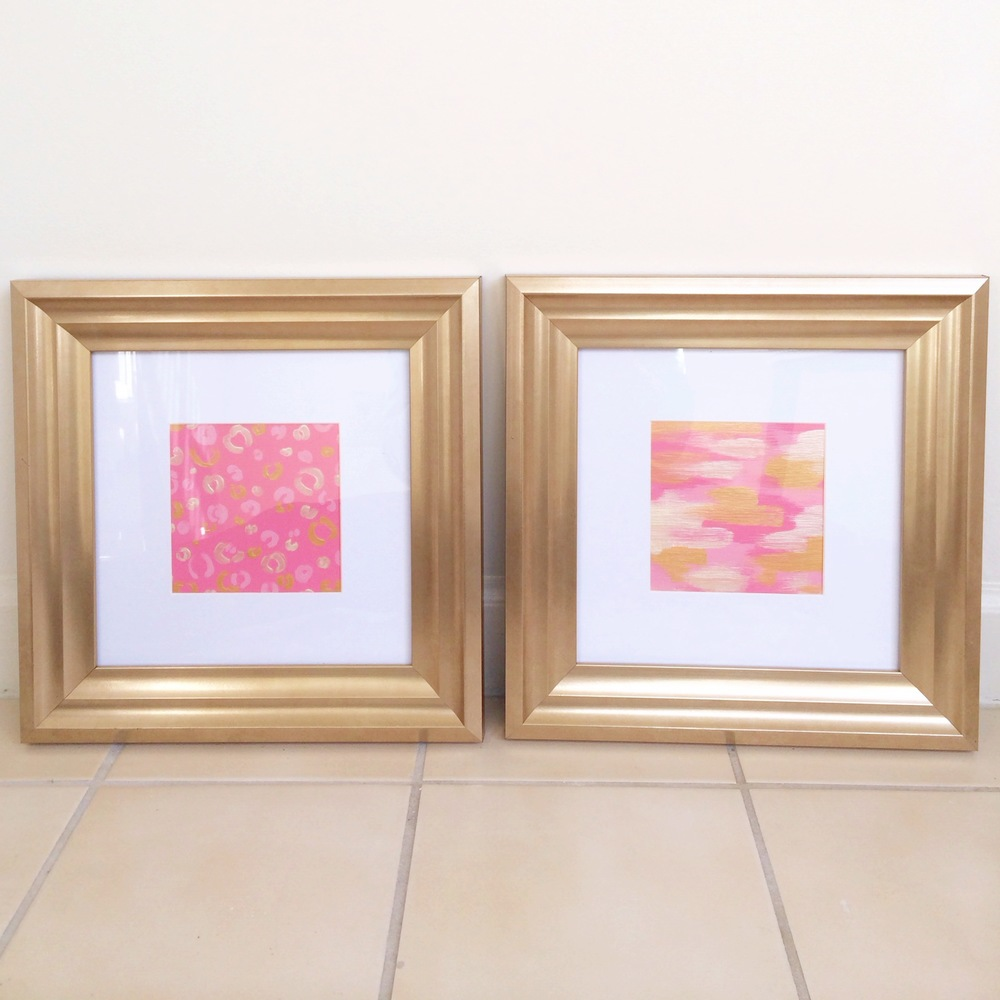 Pink and Gold Abstract Paintings | Simply Jessica Marie