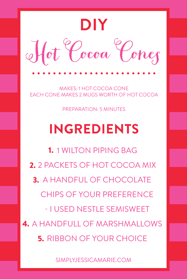 DIY Hot Cocoa Cones | Ingredients | Simply Jessica Marie