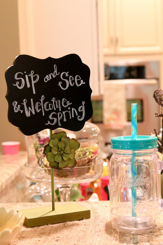 Welcome Spring Sip n' See | Simply Jessica Marie