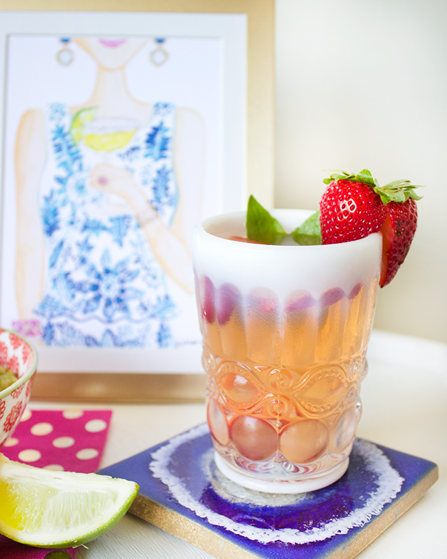 Strawberry Basil Margarita Recipe by Simply Jessica Marie
