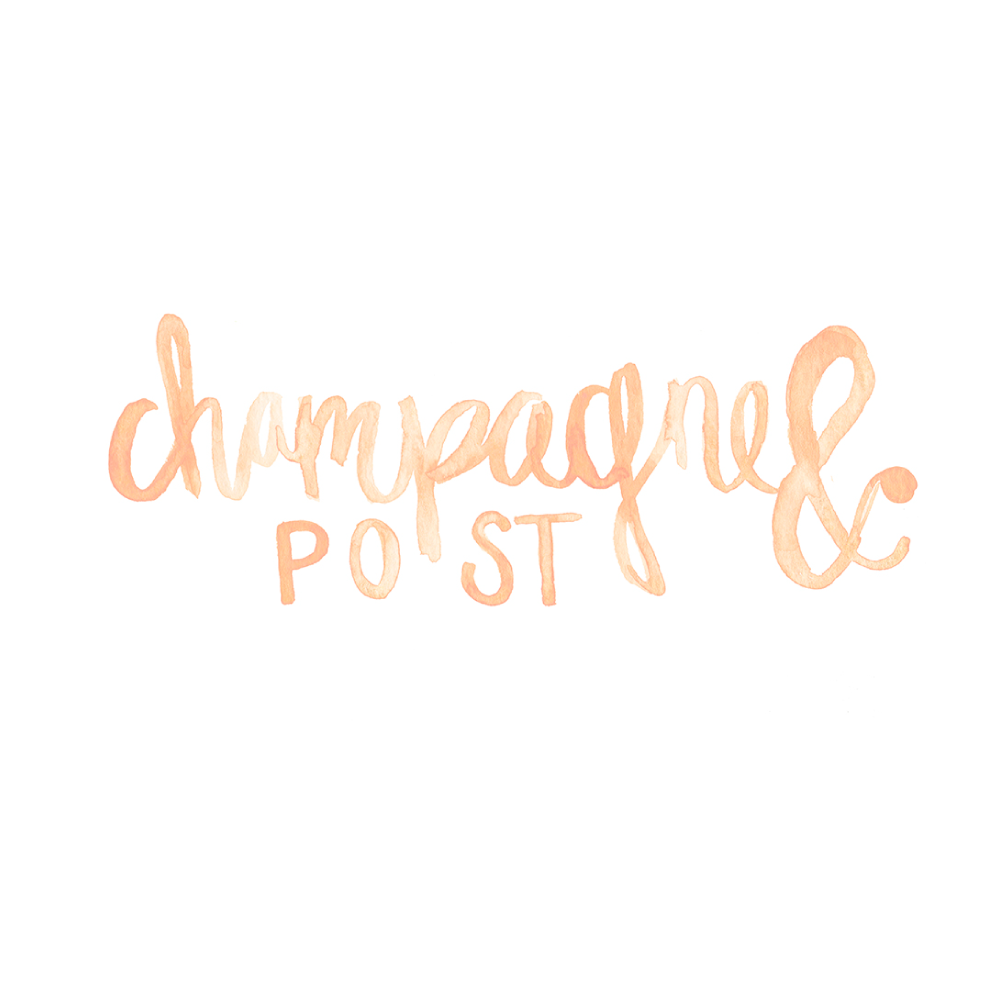Custom Logo and Blog Header for Champagne and Post by Simply Jessica Marie