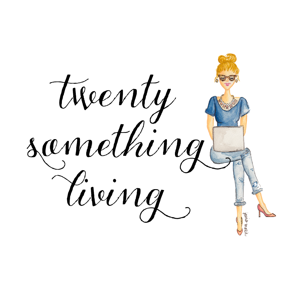 Custom Logo and Blog Header for Twenty Something Living by Simply Jessica Marie