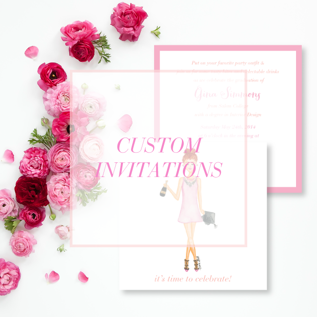 Custom Watercolor Invitations by Simply Jessica Marie
