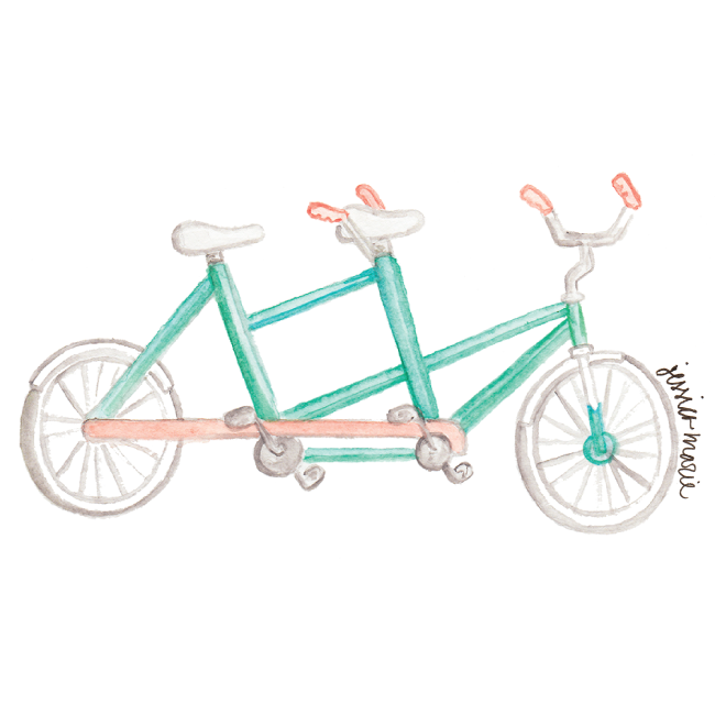 Watercolor Bicycle by Simply Jessica Marie