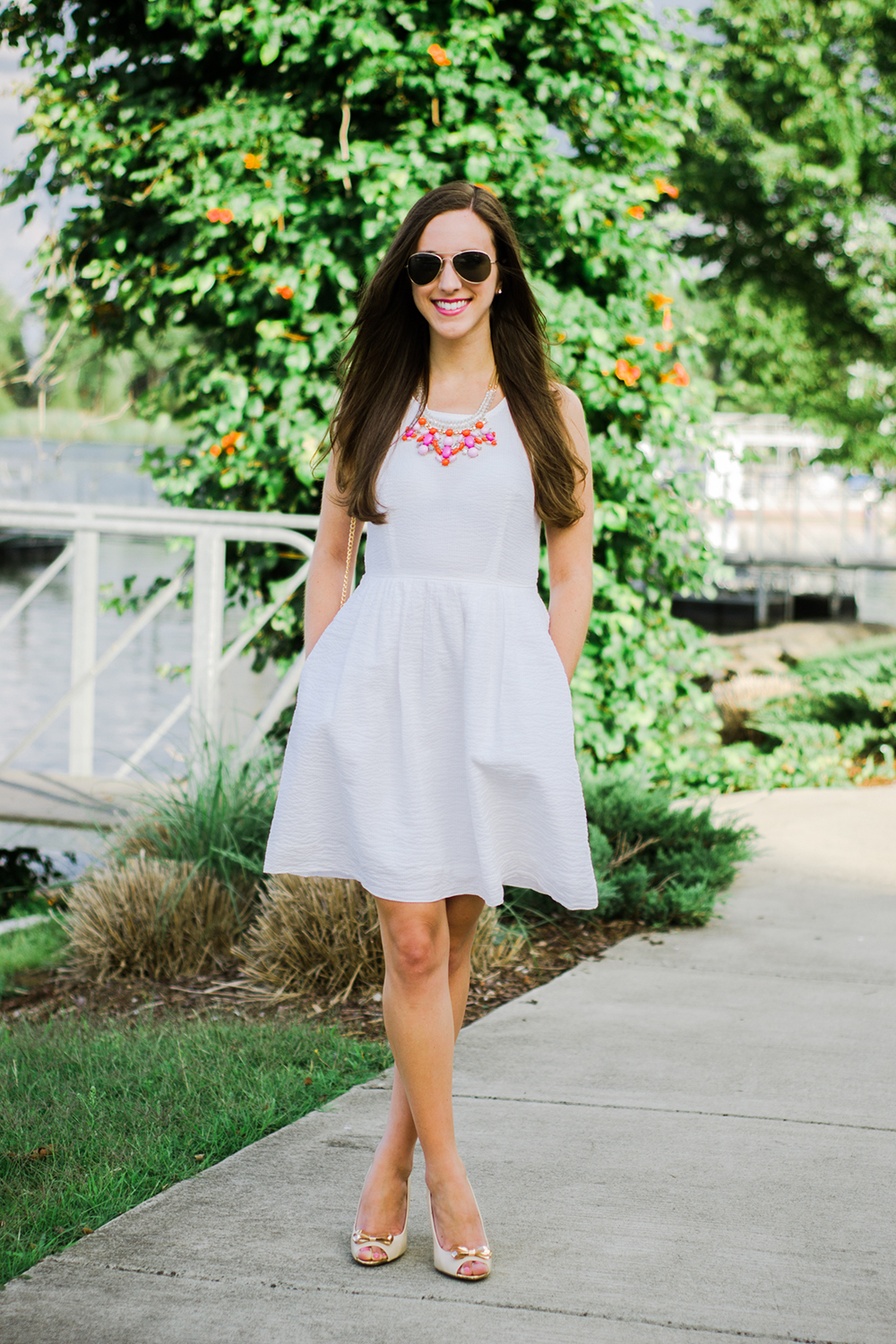 How to Style a Little White Dress | Simply Jessica Marie for Best Friends For Frosting