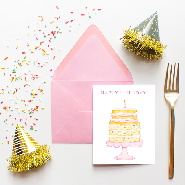 Funfetti Happy Birthday Card by Simply Jessica Marie