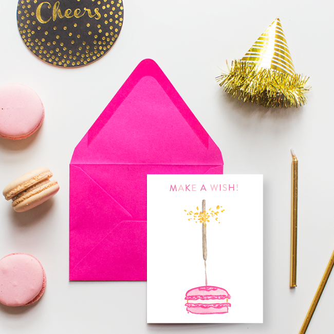 Macaron Make a Wish Birthday Card by Simply Jessica Marie