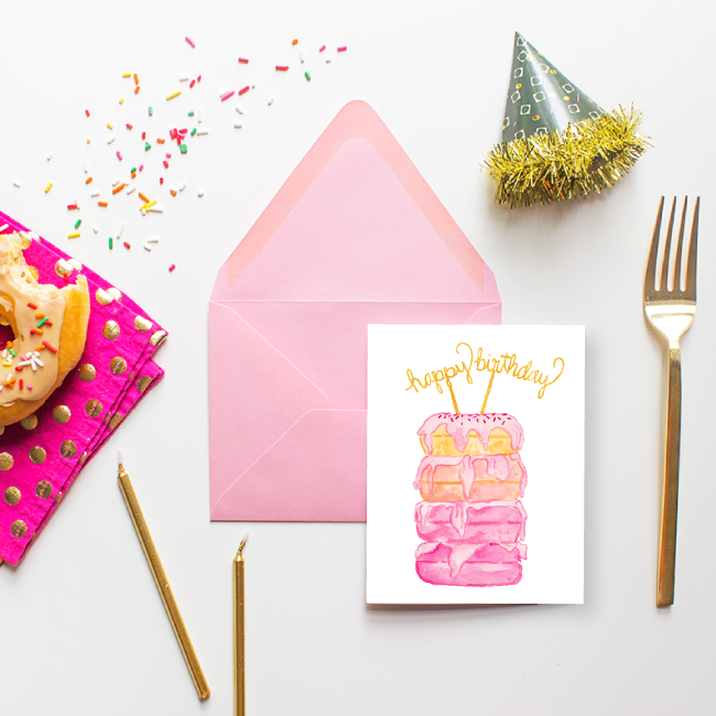 Donut Happy Birthday Card by Simply Jessica Marie
