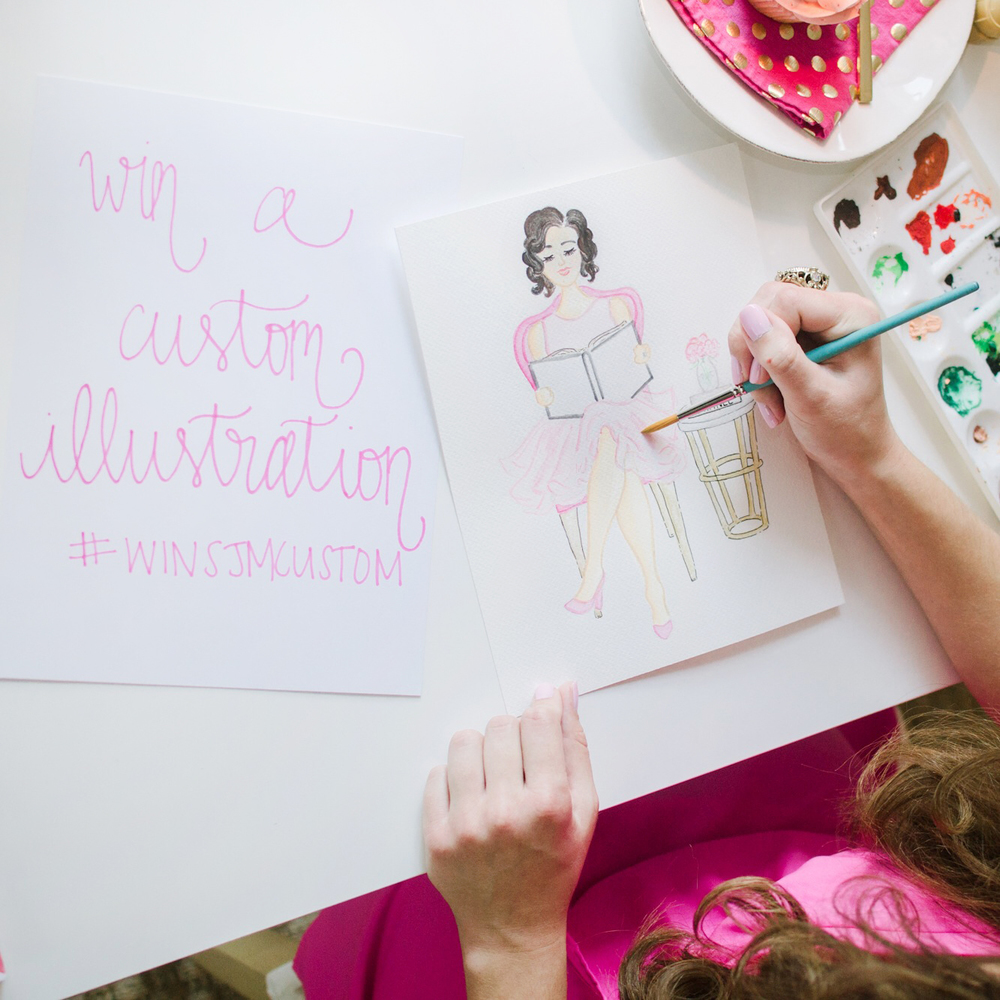 Win a Custom Illustration by Simply Jessica Marie | Zipporah Photography