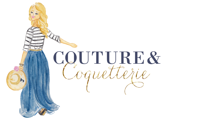 Watercolor Logo Design for Couture & Coquetterie by Simply Jessica Marie