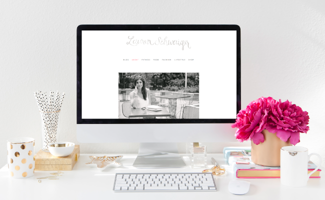 Custom Website Design for Lauren Schwaiger by Simply Jessica Marie