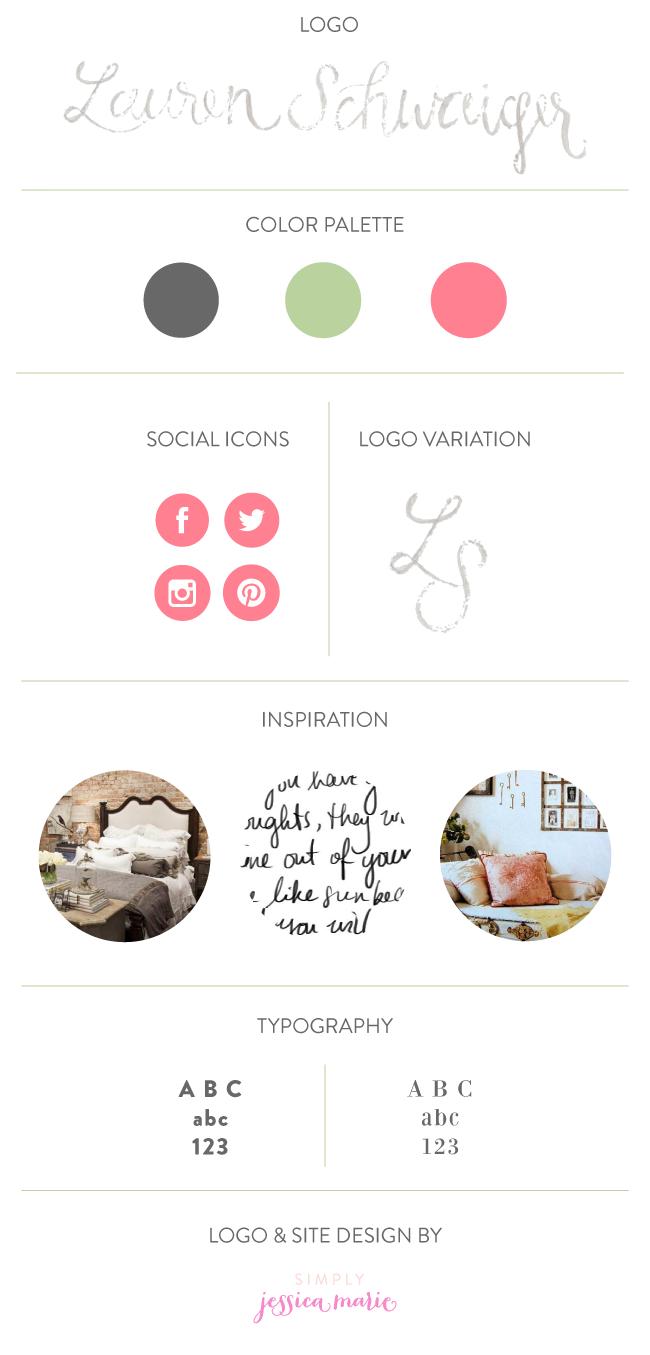 Lauren Schwaiger Branding Board by Simply Jessica Marie