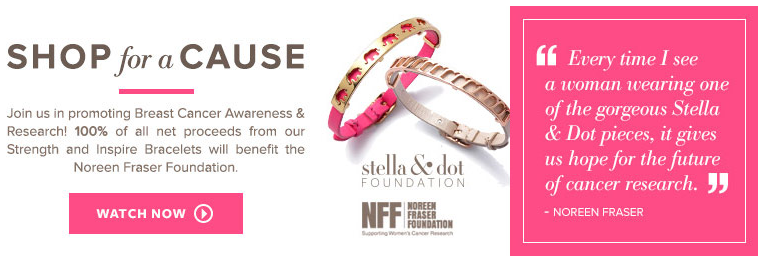 Stella & Dot Shop for a Cause | Noreen Fraser Foundation | Jessica Clinch Independent Stylist