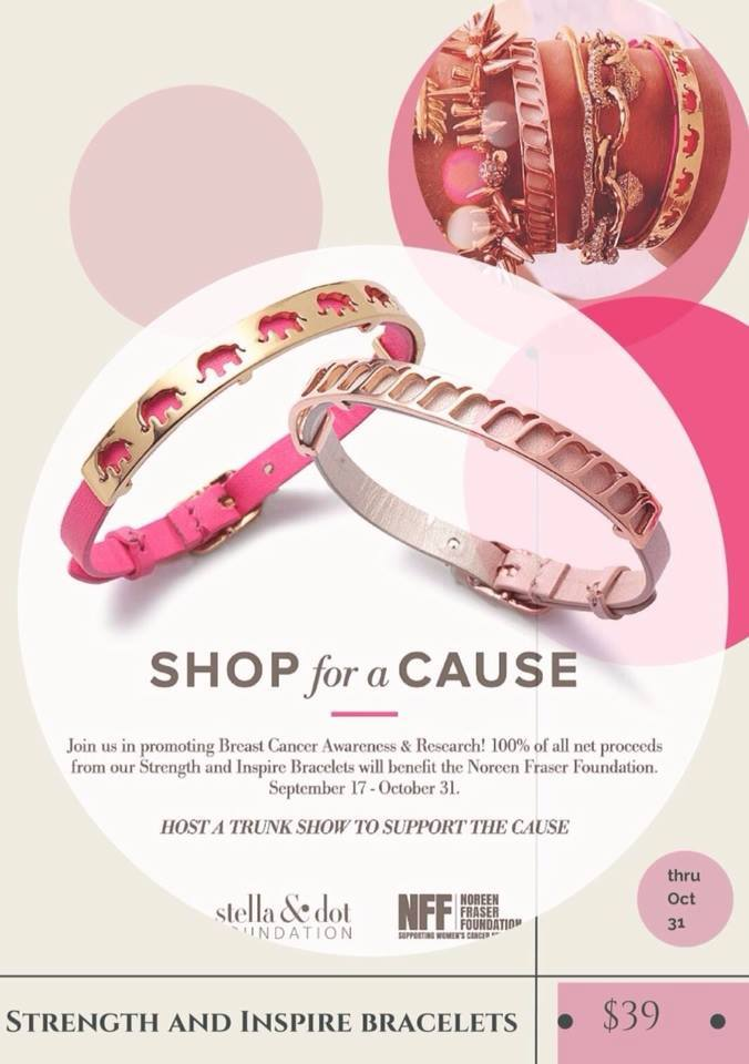Stella & Dot Breast Cancer Awareness and Research Bracelets | Jessica Clinch Independent Stylist