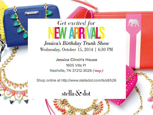 Stella & Dot Holiday Collection | Jessica's Birthday Trunk Show