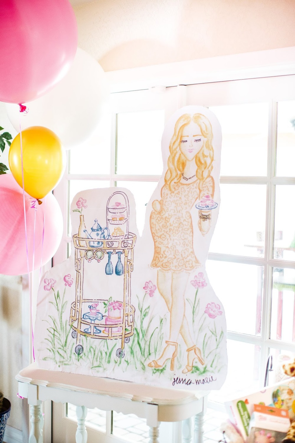 Aubrey Kinch Baby Shower | Custom Watercolor Illustration by Simply Jessica Marie