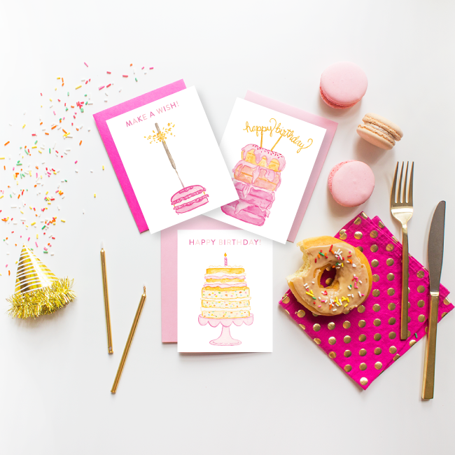 Dessert Birthday Cards by Simply Jessica Marie