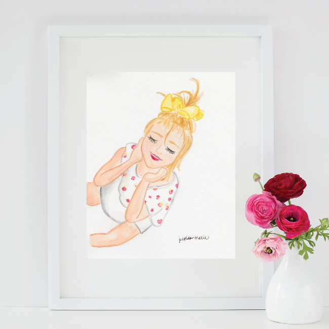 Custom Watercolor Child Portrait by Simply Jessica Marie